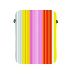 Multi Colored Bright Stripes Striped Background Wallpaper Apple Ipad 2/3/4 Protective Soft Cases by Amaryn4rt