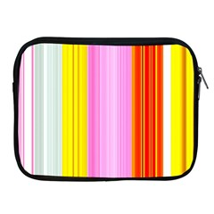 Multi Colored Bright Stripes Striped Background Wallpaper Apple Ipad 2/3/4 Zipper Cases by Amaryn4rt