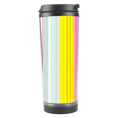 Multi Colored Bright Stripes Striped Background Wallpaper Travel Tumbler by Amaryn4rt