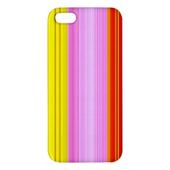 Multi Colored Bright Stripes Striped Background Wallpaper Iphone 5s/ Se Premium Hardshell Case by Amaryn4rt