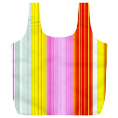 Multi Colored Bright Stripes Striped Background Wallpaper Full Print Recycle Bags (l)  by Amaryn4rt