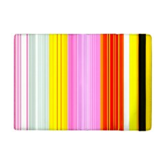 Multi Colored Bright Stripes Striped Background Wallpaper Ipad Mini 2 Flip Cases by Amaryn4rt