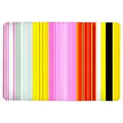 Multi Colored Bright Stripes Striped Background Wallpaper Ipad Air 2 Flip by Amaryn4rt