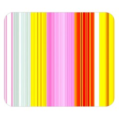 Multi Colored Bright Stripes Striped Background Wallpaper Double Sided Flano Blanket (small)  by Amaryn4rt