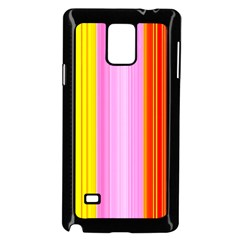 Multi Colored Bright Stripes Striped Background Wallpaper Samsung Galaxy Note 4 Case (black) by Amaryn4rt