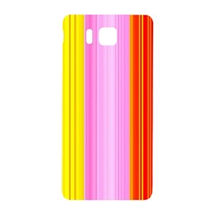 Multi Colored Bright Stripes Striped Background Wallpaper Samsung Galaxy Alpha Hardshell Back Case by Amaryn4rt