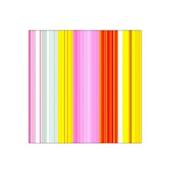 Multi Colored Bright Stripes Striped Background Wallpaper Satin Bandana Scarf by Amaryn4rt