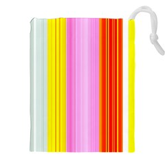 Multi Colored Bright Stripes Striped Background Wallpaper Drawstring Pouches (xxl) by Amaryn4rt