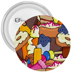 Sweet Stuff Digitally Created Sweet Food Wallpaper 3  Buttons by Amaryn4rt