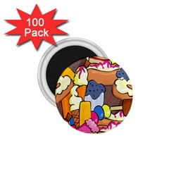 Sweet Stuff Digitally Created Sweet Food Wallpaper 1 75  Magnets (100 Pack)  by Amaryn4rt
