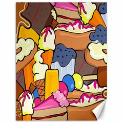 Sweet Stuff Digitally Created Sweet Food Wallpaper Canvas 12  X 16