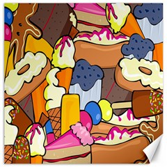 Sweet Stuff Digitally Created Sweet Food Wallpaper Canvas 16  X 16   by Amaryn4rt