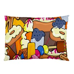 Sweet Stuff Digitally Created Sweet Food Wallpaper Pillow Case by Amaryn4rt