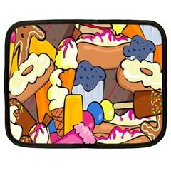 Sweet Stuff Digitally Created Sweet Food Wallpaper Netbook Case (xxl)  by Amaryn4rt