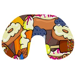 Sweet Stuff Digitally Created Sweet Food Wallpaper Travel Neck Pillows by Amaryn4rt