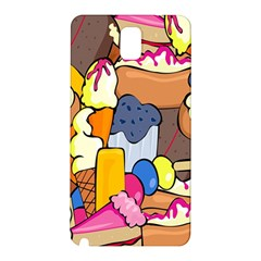 Sweet Stuff Digitally Created Sweet Food Wallpaper Samsung Galaxy Note 3 N9005 Hardshell Back Case by Amaryn4rt