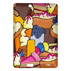 Sweet Stuff Digitally Created Sweet Food Wallpaper Amazon Kindle Fire Hd (2013) Hardshell Case by Amaryn4rt