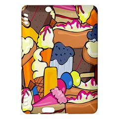 Sweet Stuff Digitally Created Sweet Food Wallpaper Kindle Fire Hdx Hardshell Case by Amaryn4rt