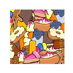 Sweet Stuff Digitally Created Sweet Food Wallpaper Small Satin Scarf (square) by Amaryn4rt