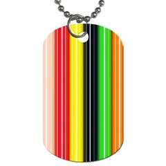 Colorful Striped Background Wallpaper Pattern Dog Tag (one Side) by Amaryn4rt