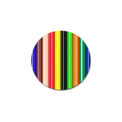 Colorful Striped Background Wallpaper Pattern Golf Ball Marker (10 Pack) by Amaryn4rt