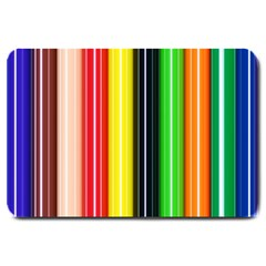 Colorful Striped Background Wallpaper Pattern Large Doormat  by Amaryn4rt