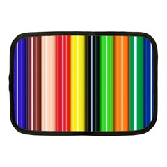 Colorful Striped Background Wallpaper Pattern Netbook Case (medium)  by Amaryn4rt