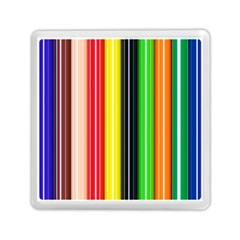 Colorful Striped Background Wallpaper Pattern Memory Card Reader (square)  by Amaryn4rt