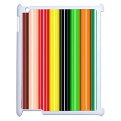 Colorful Striped Background Wallpaper Pattern Apple Ipad 2 Case (white) by Amaryn4rt