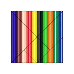 Colorful Striped Background Wallpaper Pattern Acrylic Tangram Puzzle (4  X 4 ) by Amaryn4rt