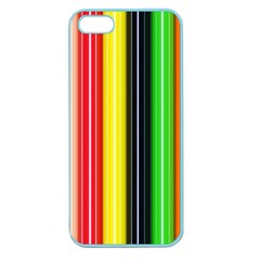 Colorful Striped Background Wallpaper Pattern Apple Seamless Iphone 5 Case (color) by Amaryn4rt