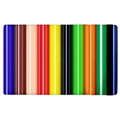 Colorful Striped Background Wallpaper Pattern Apple Ipad 2 Flip Case by Amaryn4rt