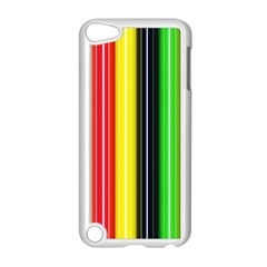 Colorful Striped Background Wallpaper Pattern Apple Ipod Touch 5 Case (white) by Amaryn4rt