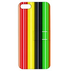 Colorful Striped Background Wallpaper Pattern Apple Iphone 5 Hardshell Case With Stand by Amaryn4rt