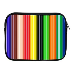 Colorful Striped Background Wallpaper Pattern Apple Ipad 2/3/4 Zipper Cases by Amaryn4rt