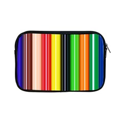 Colorful Striped Background Wallpaper Pattern Apple Ipad Mini Zipper Cases by Amaryn4rt