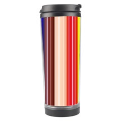 Colorful Striped Background Wallpaper Pattern Travel Tumbler by Amaryn4rt