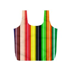 Colorful Striped Background Wallpaper Pattern Full Print Recycle Bags (s)  by Amaryn4rt