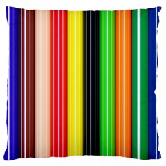 Colorful Striped Background Wallpaper Pattern Standard Flano Cushion Case (two Sides) by Amaryn4rt