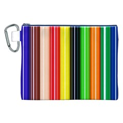 Colorful Striped Background Wallpaper Pattern Canvas Cosmetic Bag (xxl) by Amaryn4rt