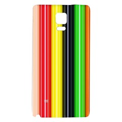 Colorful Striped Background Wallpaper Pattern Galaxy Note 4 Back Case by Amaryn4rt