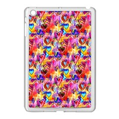 Spring Hearts Bohemian Artwork Apple Ipad Mini Case (white) by KirstenStar