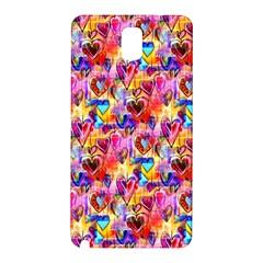 Spring Hearts Bohemian Artwork Samsung Galaxy Note 3 N9005 Hardshell Back Case by KirstenStar