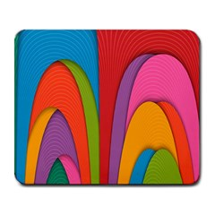 Modern Abstract Colorful Stripes Wallpaper Background Large Mousepads by Amaryn4rt