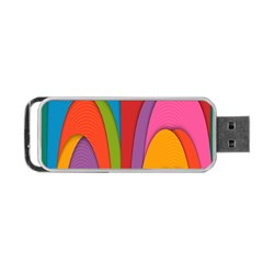 Modern Abstract Colorful Stripes Wallpaper Background Portable Usb Flash (one Side) by Amaryn4rt