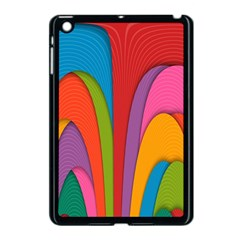 Modern Abstract Colorful Stripes Wallpaper Background Apple Ipad Mini Case (black) by Amaryn4rt