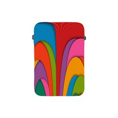 Modern Abstract Colorful Stripes Wallpaper Background Apple Ipad Mini Protective Soft Cases by Amaryn4rt