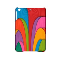 Modern Abstract Colorful Stripes Wallpaper Background Ipad Mini 2 Hardshell Cases by Amaryn4rt