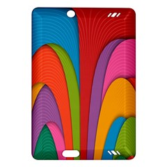 Modern Abstract Colorful Stripes Wallpaper Background Amazon Kindle Fire Hd (2013) Hardshell Case by Amaryn4rt