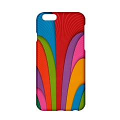 Modern Abstract Colorful Stripes Wallpaper Background Apple Iphone 6/6s Hardshell Case by Amaryn4rt